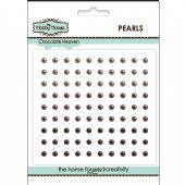 The Hobby House Self Adhesive Pearls - 3mm Chocolate Heaven - HH301
